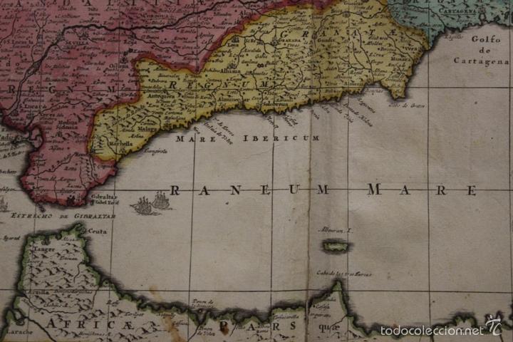 Arte: Gran mapa de España y Portugal, 1730. Homann - Foto 4 - 58644518