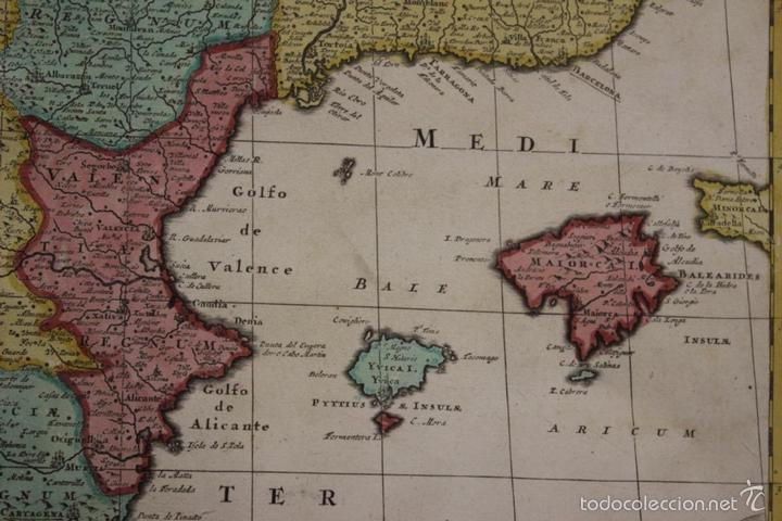 Arte: Gran mapa de España y Portugal, 1730. Homann - Foto 8 - 58644518