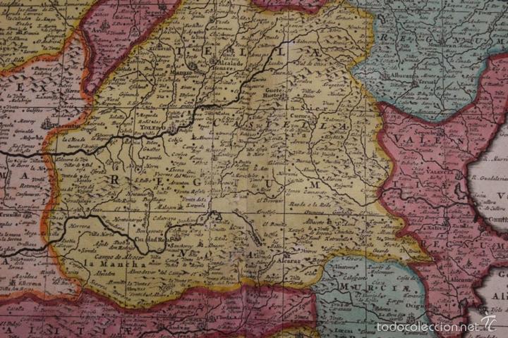 Arte: Gran mapa de España y Portugal, 1730. Homann - Foto 11 - 58644518