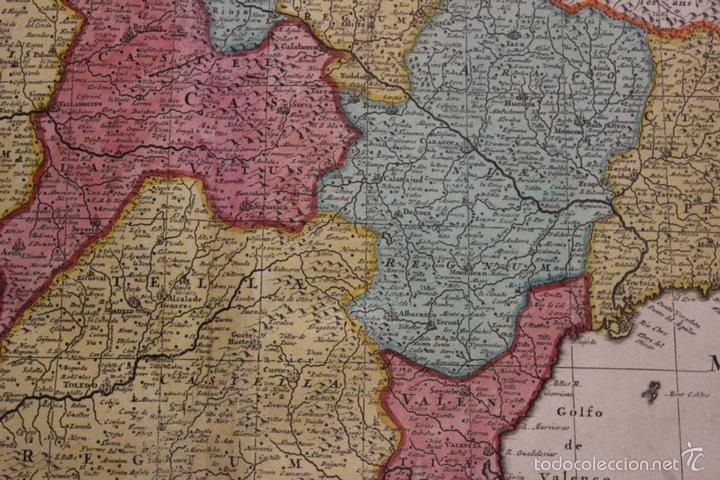 Arte: Gran mapa de España y Portugal, 1730. Homann - Foto 16 - 58644518