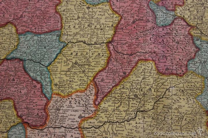 Arte: Gran mapa de España y Portugal, 1730. Homann - Foto 17 - 58644518