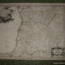 Arte: GRAN MAPA DEL NORTE DE PORTUGAL, 1654. SANSON/MARIETTE. Lote 58655129