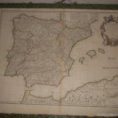 Arte: MAPA DE ESPAÑA Y PORTUGAL, 1701. G. DELISLE. Lote 58957895