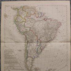 Arte: MAPA DE AMÉRICA DEL SUR, 1847. A. H. KOEHLER. Lote 59076725