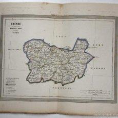 Arte: MAPA ORENSE. POR D. MARTIN FERREIRO, GASPAR Y ROIG EDITORES. AÑO 1852. Lote 59601051