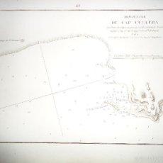 Arte: PLANO - MAPA - CARTA NÁUTICA - PUERTO DEL CABO DE CULLERA VALENCIA - PIERRE HENRI GAUTTIER. Lote 59643651