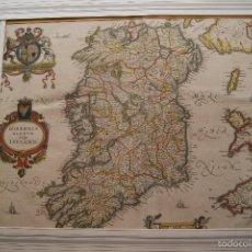 Arte: MAPA IRLANDA JAN JANSSONIUS 1636. Lote 59780820