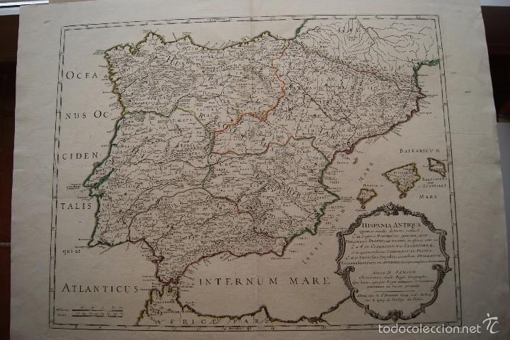 MAPA ESPAÑA ANTIGUA N SANSON (Arte - Cartografía Antigua (hasta S. XIX))