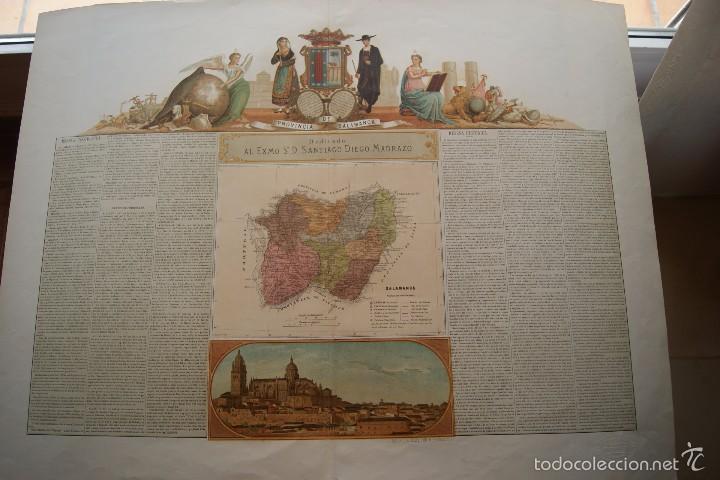 MAPA PROVINCIA DE SALAMANCA CON IMAGEN MAPA Y DESCRIPCION (Arte - Cartografía Antigua (hasta S. XIX))