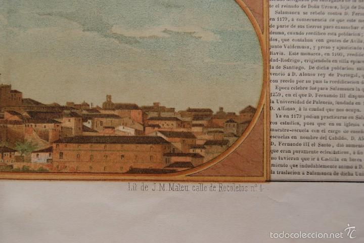 Arte: MAPA PROVINCIA DE SALAMANCA CON IMAGEN MAPA Y DESCRIPCION - Foto 3 - 59783644