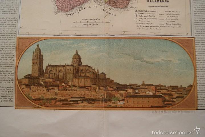 Arte: MAPA PROVINCIA DE SALAMANCA CON IMAGEN MAPA Y DESCRIPCION - Foto 4 - 59783644