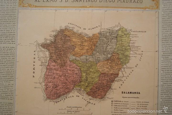 Arte: MAPA PROVINCIA DE SALAMANCA CON IMAGEN MAPA Y DESCRIPCION - Foto 5 - 59783644