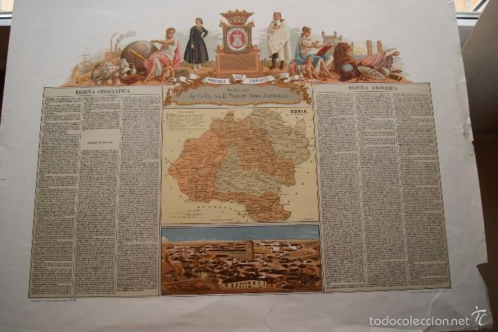 MAPA PROVINCIA DE SORIA CON IMAGEN Y DESCRIPCION (Arte - Cartografía Antigua (hasta S. XIX))
