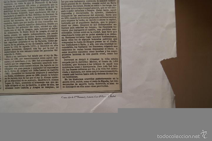 Arte: MAPA PROVINCIA DE SORIA CON IMAGEN Y DESCRIPCION - Foto 5 - 59784176