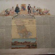 Arte: MAPA PROVINCIA DE PALENCIA CON IMAGEN MAPA Y DESCRIPCION. Lote 59784736