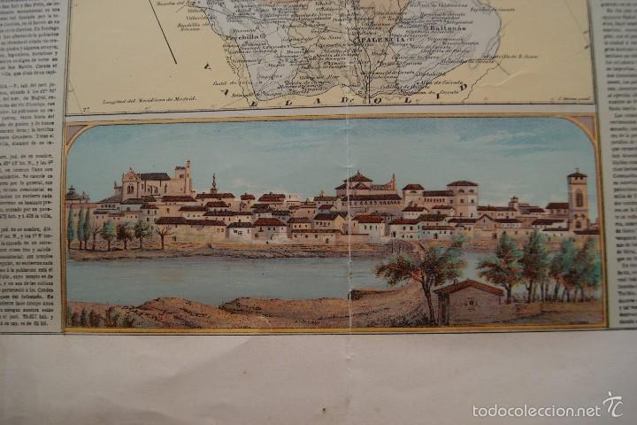 Arte: MAPA PROVINCIA DE PALENCIA CON IMAGEN MAPA Y DESCRIPCION - Foto 2 - 59784736