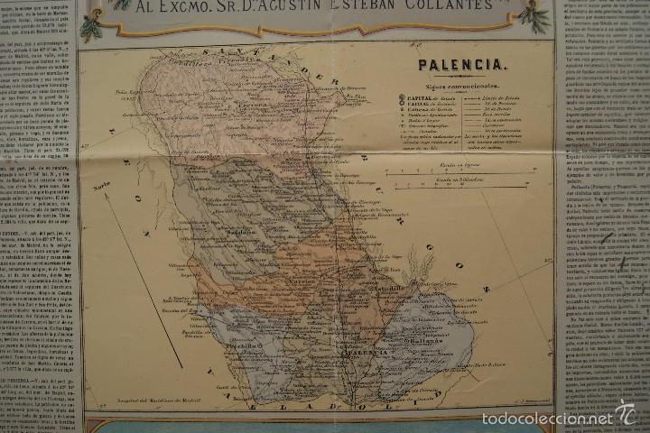 Arte: MAPA PROVINCIA DE PALENCIA CON IMAGEN MAPA Y DESCRIPCION - Foto 3 - 59784736