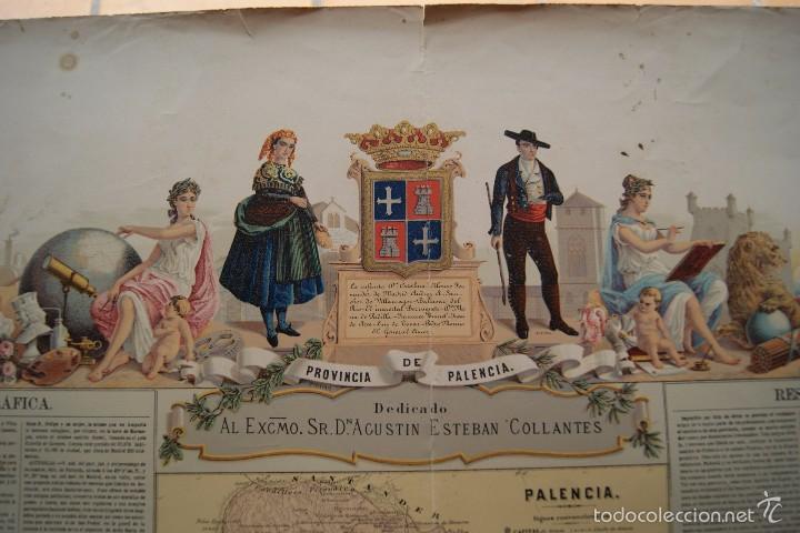 Arte: MAPA PROVINCIA DE PALENCIA CON IMAGEN MAPA Y DESCRIPCION - Foto 4 - 59784736
