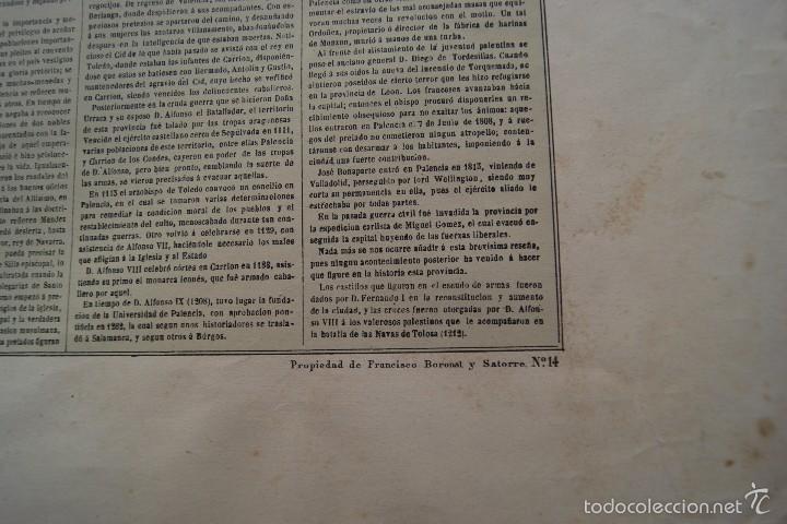 Arte: MAPA PROVINCIA DE PALENCIA CON IMAGEN MAPA Y DESCRIPCION - Foto 5 - 59784736