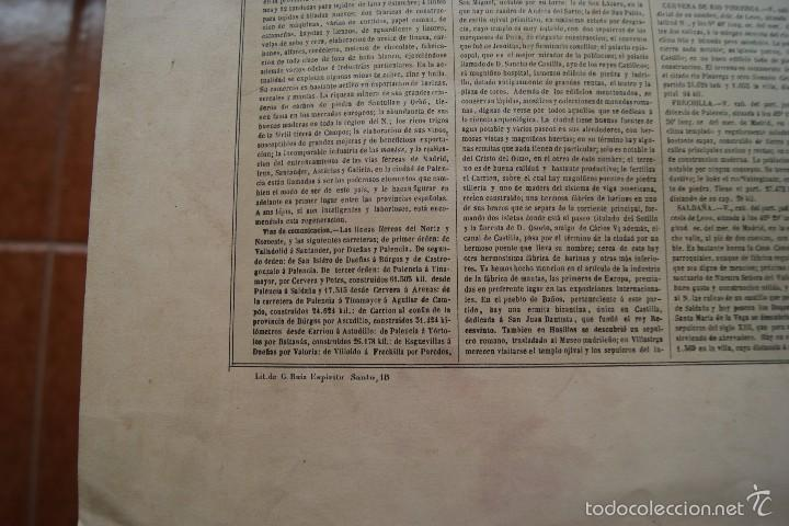Arte: MAPA PROVINCIA DE PALENCIA CON IMAGEN MAPA Y DESCRIPCION - Foto 6 - 59784736
