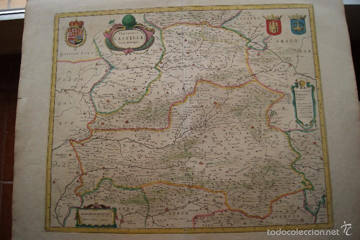 MAPA ANTIGUO CASTILLA LA NUEVA GUILHEM Y JOAN BLAEU 1650 (Arte - Cartografía Antigua (hasta S. XIX))