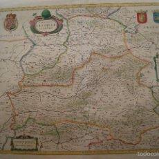 Arte: MAPA ANTIGUO CASTILLA LA NUEVA GUILHEM Y JOAN BLAEU 1650. Lote 59847360