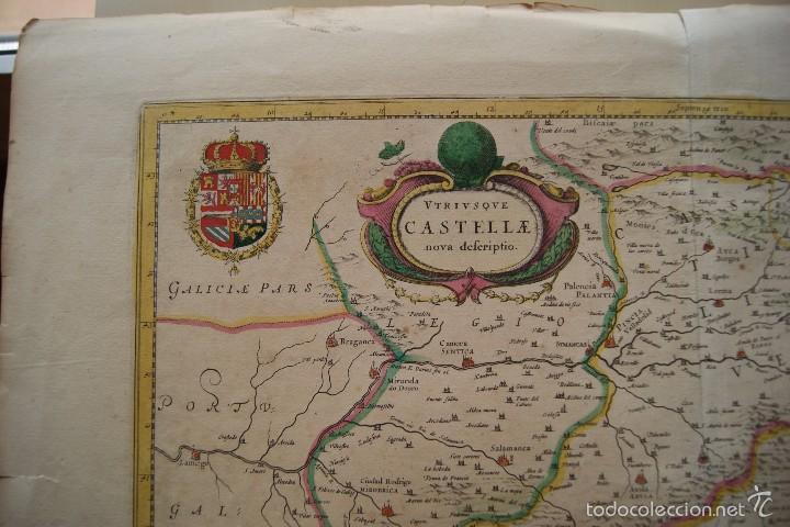 Arte: MAPA ANTIGUO CASTILLA LA NUEVA GUILHEM Y JOAN BLAEU 1650 - Foto 2 - 59847360