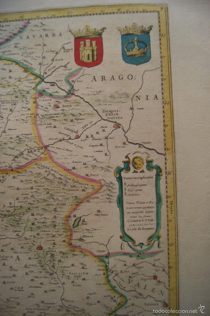 Arte: MAPA ANTIGUO CASTILLA LA NUEVA GUILHEM Y JOAN BLAEU 1650 - Foto 3 - 59847360