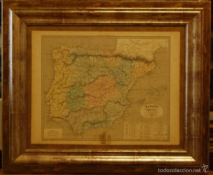 MAPA DE ESPAÑA EDITOR ALEXANDRE VUILLEMIN (Arte - Cartografía Antigua (hasta S. XIX))