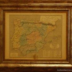 Arte: MAPA DE ESPAÑA EDITOR ALEXANDRE VUILLEMIN. Lote 60505563