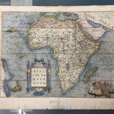 Arte: 1579 MAPA DE ÁFRICA , ABRAHAM ORTELIUS , GRABADO , ORIGINAL DE ÉPOCA. Lote 61351925
