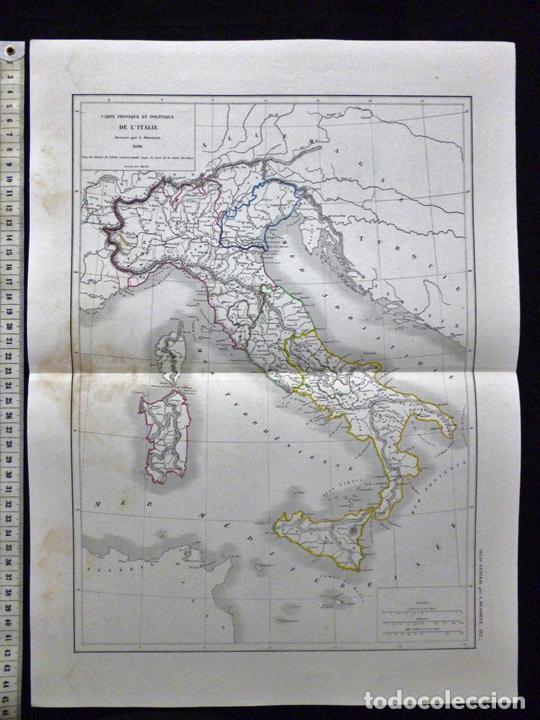 mapa de italia por l. dussieux. grabado al acer - Comprar ...