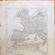 Arte: MAPA ESPAÑA ROMANA S XVIII ( IMPERIUM ROMANUM. PARS OCCIDENTALIS. R BONNE. 17 X 12 CM. AGUAFUERTE.. Lote 62138712