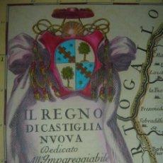 Art: ESPECTACULAR Y ENORME MAPA CASTILLA EXTREMADURA, ORIGINAL ROMA,1696,DATADO PLANCHA,CANTELLI-DE ROSSI. Lote 62377092