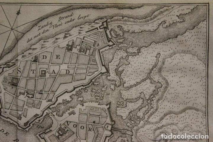 Arte: Mapa-plano de la ciudad de Cartagena de Indias (Colombia, América), 1766. Tirion - Foto 3 - 64872643