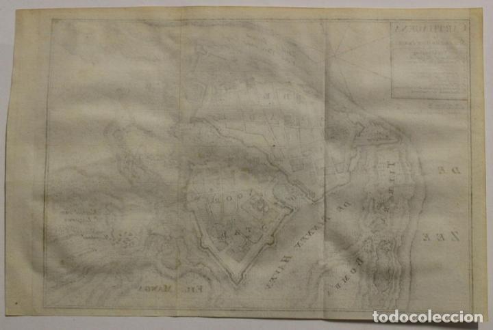 Arte: Mapa-plano de la ciudad de Cartagena de Indias (Colombia, América), 1766. Tirion - Foto 5 - 64872643