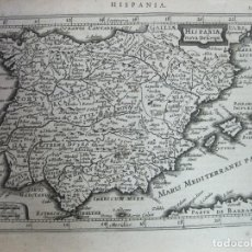 Arte: MAPA DE ESPAÑA Y PORTUGAL, 1634. MERCATOR/HONDIUS/JANSONIUS. Lote 65092283