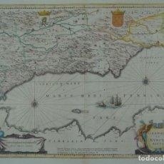 Arte: GRAN MAPA DE GRANADA Y MURCIA (ESPAÑA), 1640. JANSSONIUS. Lote 67270149