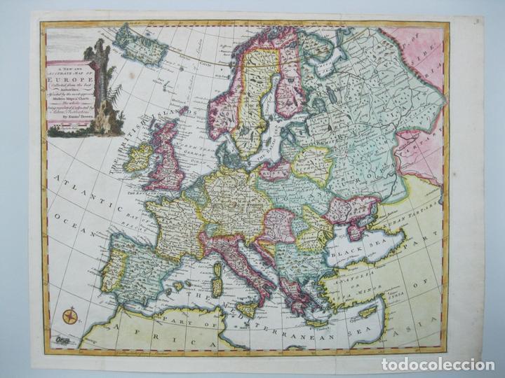 MAPA A COLOR DE EUROPA, 1747. BOWEN (Arte - Cartografía Antigua (hasta S. XIX))