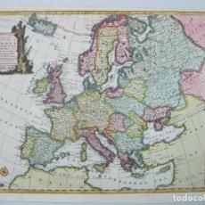 Arte: MAPA A COLOR DE EUROPA, 1747. BOWEN. Lote 67579305