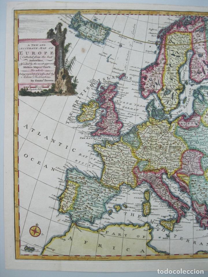 Arte: Mapa a color de Europa, 1747. Bowen - Foto 3 - 67579305