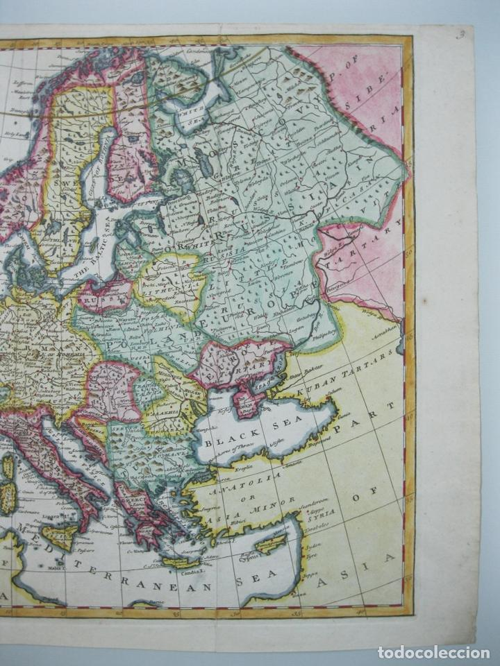 Arte: Mapa a color de Europa, 1747. Bowen - Foto 4 - 67579305