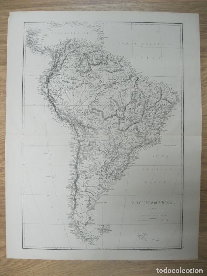 GRAN MAPA DE AMÉRICA DEL SUR, CIRCA 1850. T. ETTLING (Arte - Cartografía Antigua (hasta S. XIX))
