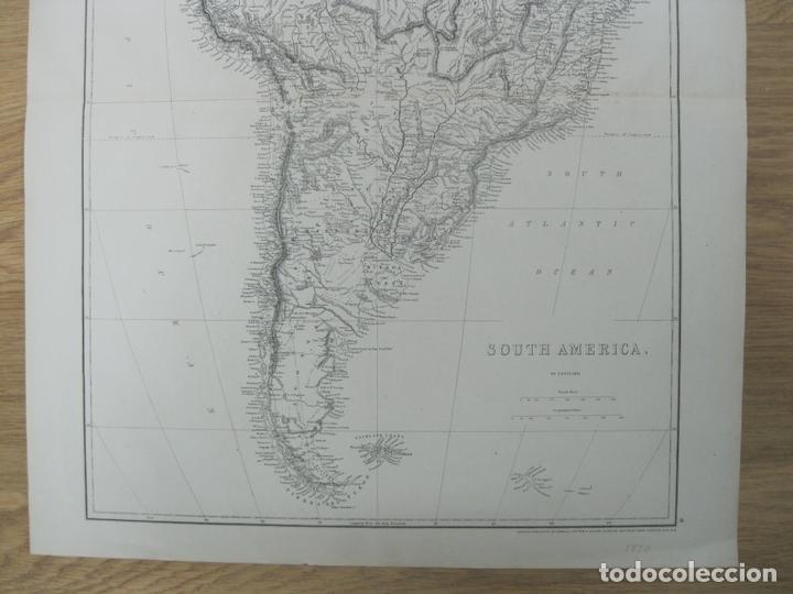 Arte: Gran mapa de América del Sur, circa 1850. T. Ettling - Foto 2 - 67584273