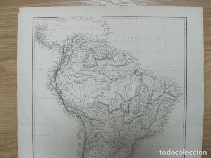 Arte: Gran mapa de América del Sur, circa 1850. T. Ettling - Foto 3 - 67584273