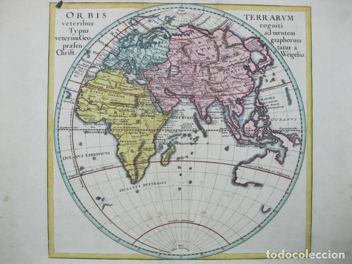 MAPA DEL MUNDO, 1720. WEIGEL/KÖHLER (Arte - Cartografía Antigua (hasta S. XIX))