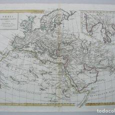 Arte: MAPA DEL MUNDO, 1785. ANTONIO ZATTA. Lote 67594729