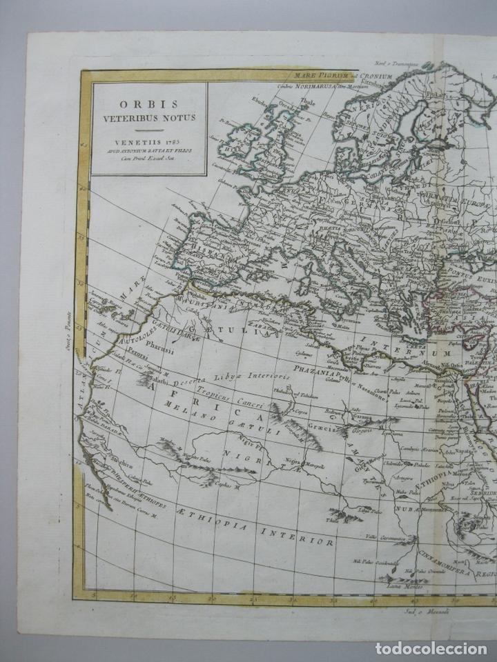 Arte: Mapa del Mundo, 1785. Antonio Zatta - Foto 3 - 67594729