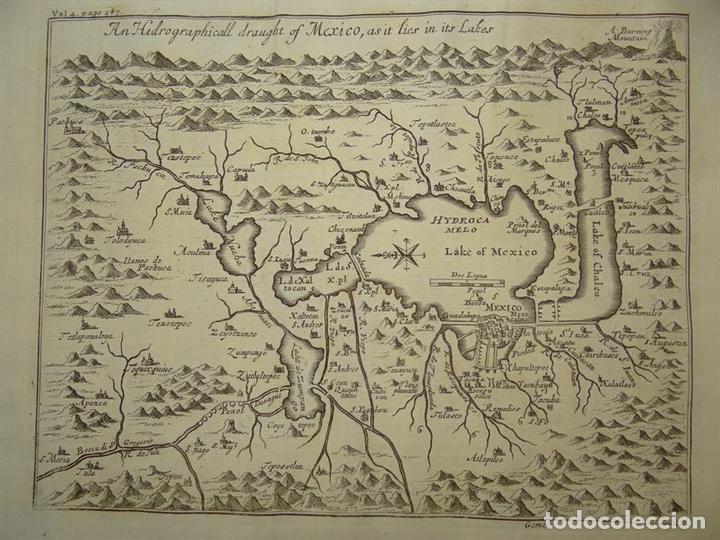 PLANO DE LA ANTIGUA CIUDAD DE MÉXICO (AMÉRICA), 1744. A. CHURCHILL (Arte - Cartografía Antigua (hasta S. XIX))