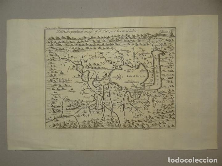 Arte: Plano de la antigua ciudad de México (América), 1744. A. Churchill - Foto 2 - 67941593